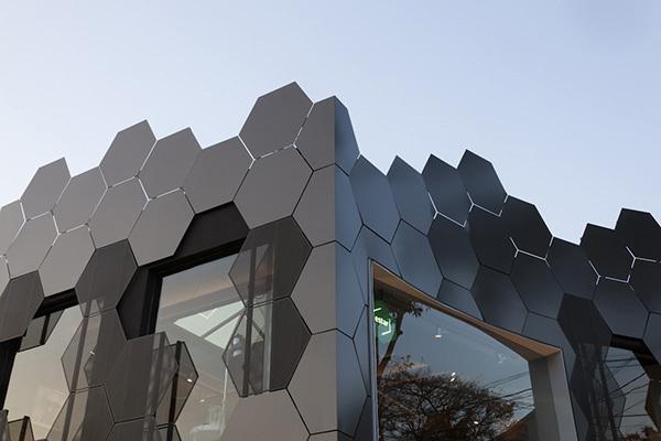 六角形外墙铝单板