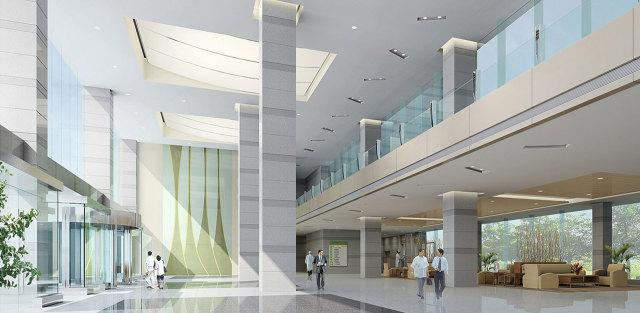 北京解放军总医院吊顶木纹铝单板