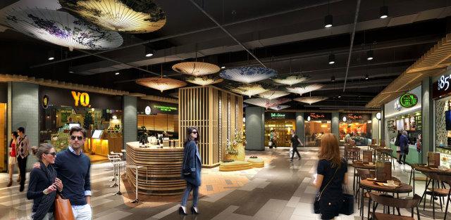 杭州地铁商业空间规划吊顶铝板
