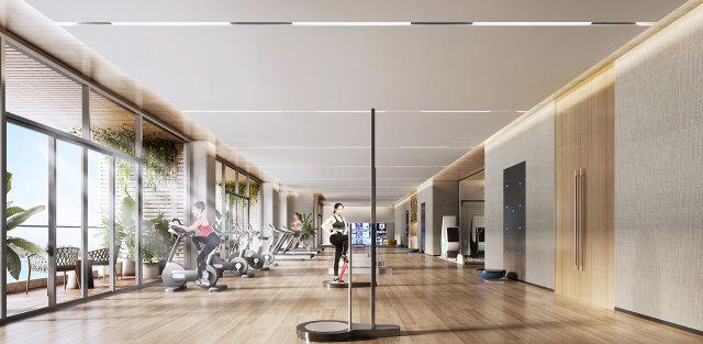 健身房吊顶铝单板
