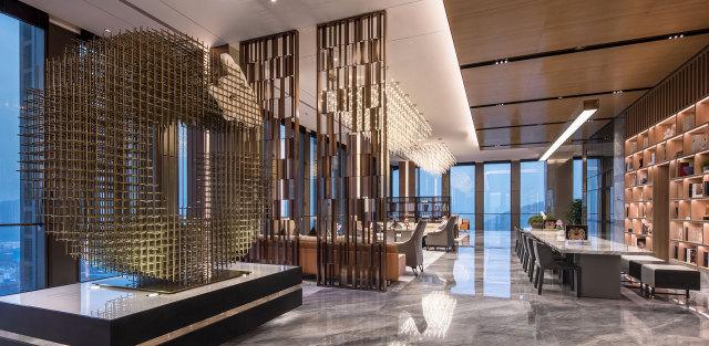 横琴中冶口岸大厦项目售楼部吊顶铝单板