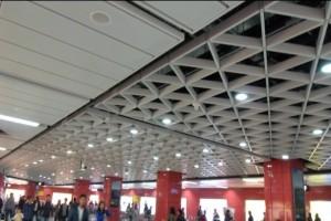 地铁三角形型材铝格栅