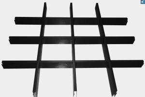 黑色铝格栅