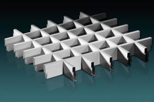 桌球室铝格栅吊顶