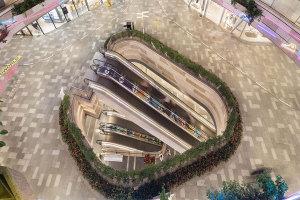 商场楼梯俯视图