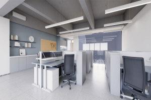 现代简约型空旷办公室吊顶
