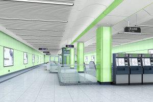 绿色包柱烤瓷铝单板
